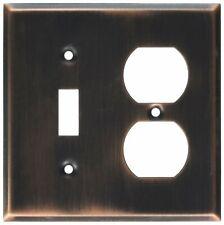 MINTCRAFT 884-35-07-SOU Light Switch Outlet Plate Combination, Venetian Bronze