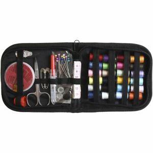 66pcs Small Mini Sewing Kit Thread Scissor Tape Pins Thimble Needle Travel Home