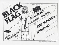 Raymond PETTIBON / Black Flag at the Galaxy 1982 Concert Flyer