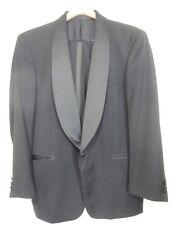 Andrew Fezza 42 R Pants 34 x 31 Black Worsted Wool Tuxedo Super 80's
