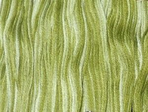 DMC Embroidery Floss Color Art 117 #94 Variegated Khaki Green
