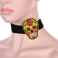Gothic Fashion Women Rose Flower Embroidery Choker Collar Necklace Jewelry Gift