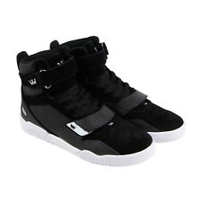 2875ad7e6a2 Supra Breaker Mens Black Suede High Top Strap Sneakers Shoes