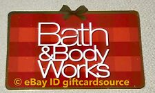 """BATH & BODY WORKS DIE CUT GIFT CARD HOLIDAY 2018 """"RED PRESENT"""" NO VALUE NEW"""