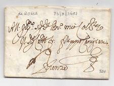 W113-ANTICA PREFILATELICA  DA ROMA A FIRENZE 1687