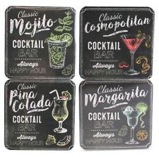 Set Of 4 Happy Hour Cocktail Coasters