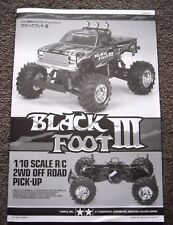 New Tamiya 'Blackfoot 3 / III' Instructions / Build Manual 58498