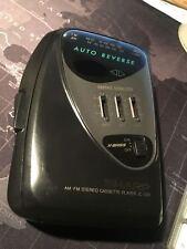 Sharp Jc-526 (Bk) Am Fm Radio Stereo Cassette Player - Rare