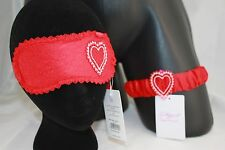 L'Agent by Agent Provocateur ~ ESTHAR ~ eye mask garter set BNWT red heart