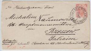Bosnien-Herzegowina, Ganzsache Petrovac - Rzeszow 1890