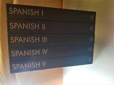 Learn Spanish I, II, III,  IV & V (levels 1,2,3,4,5) Gold edition (80 CD's)