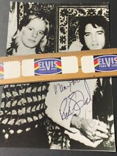 Ricky Stanley With Elvis Signed B&W Photo / Direct From Memphis
