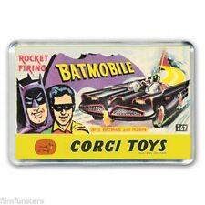 RETRO  - BATMAN CORGI BATMOBILE TOYS ARTWORK - JUMBO FRIDGE LOCKER MAGNET