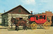 Postcard Old Abilene Town Stage Coach Kansas