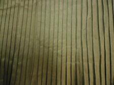 King Size Taffeta Bed Skirt Dust Ruffle in Deep Olive Green Pin Pleats