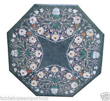 2'x2' Marble Coffee Table Top Handmade Inlay Marquetry Furniture New Year Gift