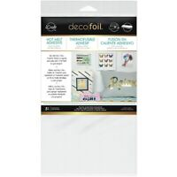 5 Thermoweb icraft Deco Foil Hot Melt Adhesive Sheets for Fabric & Paper 5.5x12
