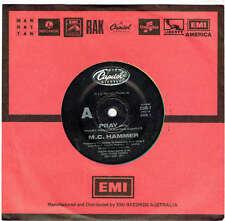 """M.C. HAMMER - PRAY - 7"""" 45 VINYL RECORD - 1990"""