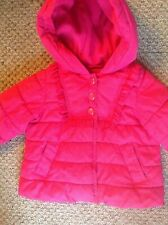 Baby Gap girls pink padded coat age 12-18 months