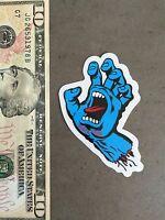 "Santa Cruz Skateboard Sticker 3"" Old School Screaming Hand Large Skate Punk Surf"