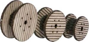 Walthers SceneMaster HO Scale Cable Reels - Laser-cut Wood Kit