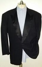 Armani Collezioni Peak Lapel Satin Tuxedo Crepe-like Wool Blazer 1-Button 44L