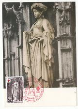 CARTE MAXIMUM FDC 1976 TIMBRE N° 1911 CROIX ROUGE EGLISE BROU SIBYLLE CIMMERIENN