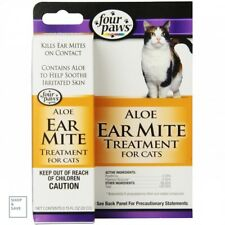 Cat Ear Mite Medicine Treatment Remedy With Aloe Infection Killer Instant Relief