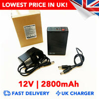 12v 2800mAh DC Rechargeable Li-ion Battery Portable Power Pack - UK