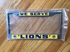 Lions Club We Serve Metal License Plate Frame In Plastic Sleeve
