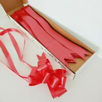 "Sasheen Berwick Pull Bow Ribbon Red Present Gift Wrapping 2"" Ribbon 6"" Bow 45 Ct"