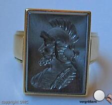 Antiker Herren Ring mit Hämatit Siegel in aus Gold Antik Wappen 58