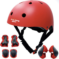 Kids Adjustable Helmets Protective Gear Set with Knee Pads Elbow Pads Wrist Gua