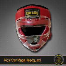 KIDS Krav Maga Head Guard Padded-Top Ballistic PU ABS KIDS Sparring