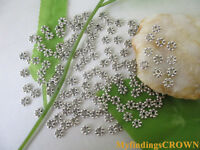 300 Silver//Gold//Bronze Color Daisy Spacer Beads 4x1.5mm 1022