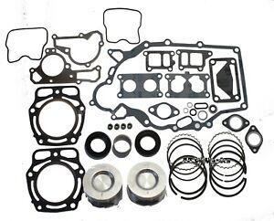 Kawasaki Mule Engine Rebuild Kit w/ Bearing Oil Seals Standard Pistons and Rings