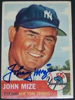 PERFECT AUTO! 1953 Topps Johnny Mize Signed Autographed Baseball Card JSA LOA!