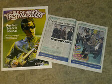 2 X ISLE OF WIGHT 2009 JUNE FESTIVAL SUPPLEMENTS STEROPHONICS NEIL YOUNG ETC