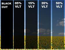 Uncut Window Tint VLT Film Heat Reduce Block Shade Blackout Mirror Home Office