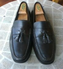 Santoni- Men's Shoes- Dark Brown Tassel Loafers- Made in Italy- Size 10.5D
