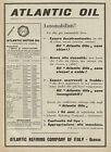 Y0248 Atlantic Motor Oil - Pubblicità d'epoca - Advertising