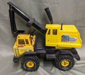 Vintage Tonka Truck Turbo Diesel Back Hoe Excavator XMB-975 Tires (NH)