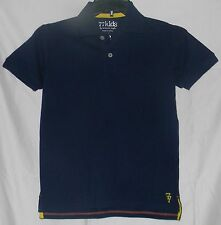 77Kids by AE Polo Pique Shirt 12 L by American Eagle Cotton S/Sleeve Navy Blue