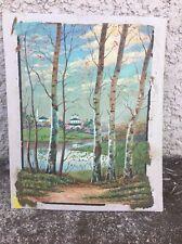 Tableau Peinture Paysage Russe Signature