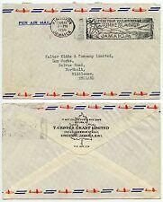 Jamaica 1959 machine à annuler plus de compteur mark... summer slogan... imprimé env. geddes