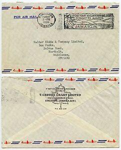 JAMAICA 1959 Machine Cancel Over METER MARK..Summer Slogan..Printed Env. Geddes