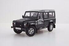 1:18 DORLOP Land Rover Defender 110 One Ten Black+Flags Decals+Shovel LHD NEW ED