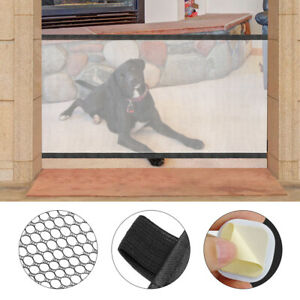 Pet Puppy Dog Baby Safety Gate Mesh Fence Portable Indoor Guard Net Stair Door