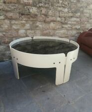 Mid century coffee table attr. TOBIA Scarpa laquer white wood italy 1960s