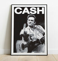 Johnny Cash Poster, Johnny Cash Art Print, Vintage Rock Band Print, Gift For Him